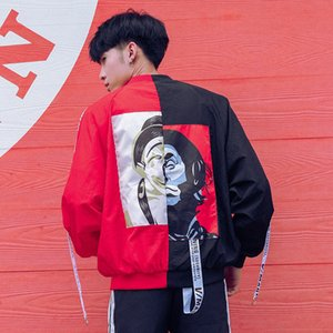 Spring   summer 2019 new men's jacket loose contrast clown Korean baseball suit men's coat trend clothes