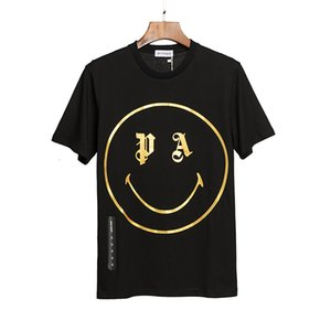 Beauty tide PALM cartoon smiley shirt ANGELS PA casual sports loose round neck short sleeve T-shirt men and women
