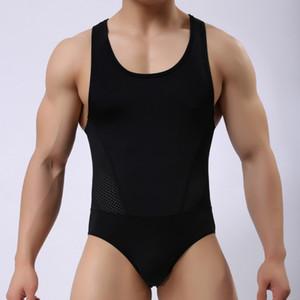 Erkek Iç Çamaşırı Şekillendirme erkek Leotard Bodysuits Sıkı Suits Vücut Elastik Yapı Erkekler Tekli Yüksek Kalite Yeni