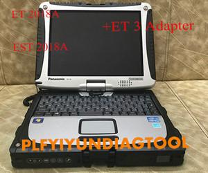Installazione per laptop CF19 per parenti EST 2018A + per gatto rosso ET 2018A con adattatore CA3 reale per entrambi gli strumenti diagnostici PerkinsCat