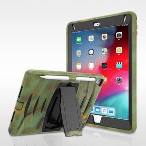 A prueba de golpes titular híbrido caja de la tableta iPad de la armadura para el aire 10.2 10.5 12.9 Mini 2 3 4 Samsung T290 T580 T860
