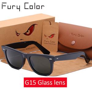 Glaslinse Retro-Sonnenbrille Frauen Männer Azetat Sonnenbrille 2140 Luxuxmarken Nietentwurf Goggles eleganter weiblicher Platz Oculos