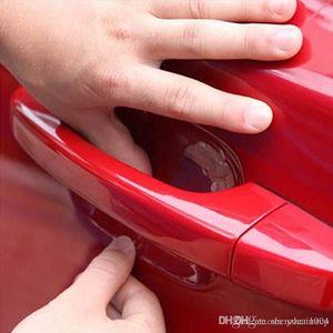 4adet Araba Şekillendirme Çıkartma Araba Kapı Kolu Çizilmeye Koruyucu Film Koruyucu Sticker Vinil İçin Otomobil Cruze Opel Mazda Peugeot