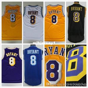 #8 K B Basketball Jerseys Stitched Retro K B Jersey Retro Basketball Jersey Size S-XXL Ncaa College