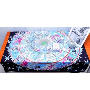 1x1. 5m Tarot Card Divination Tablecloth Witt Astrology Divination Props Astrological Board Game altar Table clother Y200421