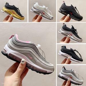 Nike Air Max 97 Yeni Çocuklar Sean Wotherspoon 1 Hibrid Boy Kız Kadife Spor Ayakkabıları Yüksek Kalite Bebek Çocuk Parra Tasarımcılar Sneakers Bowling Ayakkabı Eur28-35