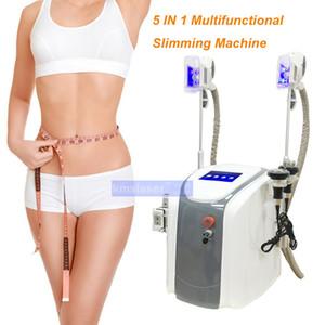 5 в 1 портативный криолиполиз замерзания жира Vaccum RF Lipo Laser Body для похудения Потеря веса Кавитация RF Двойные крио ручки для похудения машина