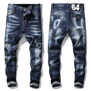2020 Düz Kesim Kot Erkek Tide Marka Kış Geniş Bacak artı Kalın Kadife Kore Stili Retro Trend Pantolon Baba Pants1018 # Isınma