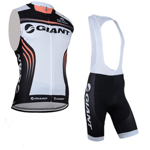Giant Team Cycling Sans manches Jersey Gilet Beav Bef Court Set Hommes Summer Tendance confortable Top Respirant Brand U71020