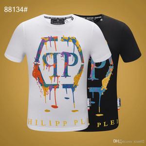 2019 été nouveau à manches courtes T-shirt hip T-shirt chemise hommes blancs de grande taille des hommes de houblon européens et américains M-XXXL A2