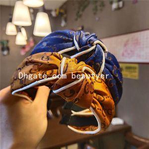Желтый Синий цвет Женщины на заказ ретро моды нашивки волос Обруч Luxury Flower Печать Нескользящие клип Hairband партии Аксессуары для волос