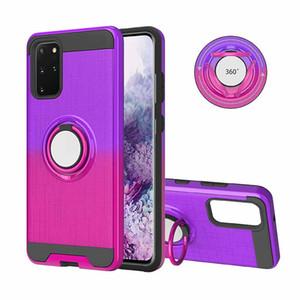 Cassa del telefono per Samsung Galaxy S20 Inoltre metallo silicone ruotare l-anello di 360 supporto magnetico Assorbimento copertura per Samsung S20 Ultra A71 A51 A91 S10