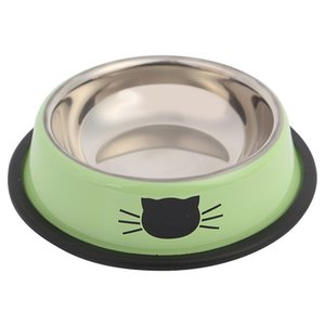 Easy Clean Eating Stainless Steel Dog Pet Supplies Portable Anti Skid Smooth Home Cat Bowl Puppy Kitten Food Feeding No Spill