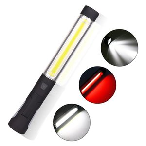 Portable LED COB Flashlight Torch USB Rechargeable 3 modes built-in battery light Magnetic Lanterna Hanging Hook camping lamp