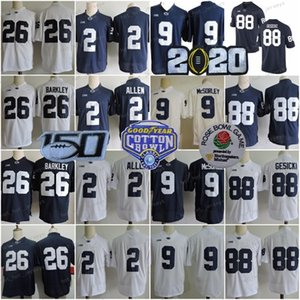 150th NCAA Penn State Nittany Lions College #26 Saquon Barkley 9 Trace McSorley 88 Mike Gesicki 2 Marcus Allen Paterno Stitched Jerseys