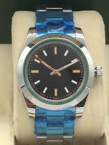 azul de la serie de discos relojes mecánicos para los hombres Deportes 0002 watch.M116400gv-, azul brillante, relojes deportivos automáticos de los hombres, reloj para hombre