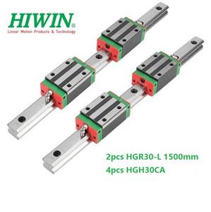 2 adet Orijinal Yeni HIWIN HGR30-150mm doğrusal kılavuz / ray + 4 adet HGH30CA cnc router parçaları için doğrusal dar bloklar