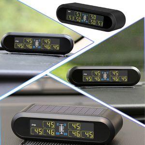 Tire Pressure Monitor de 6 rodas inteligente Digital Portátil Sensor externo Mini Tempo real sem fio Prático Energia Solar Motor Homes