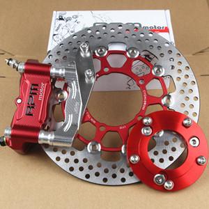 CNC Motorcycle Brake Compassos + Bomba Brake Adapter Bracket + 220 milímetros / 260 milímetros Brake Disc Rotor Para RPM monta um fork plana