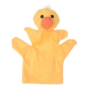 Pato amarelo Mãos Bichos de pelúcia Plush Dedo Pato amarelo Hand Puppet Puppets Bichos de pelúcia Plush fantoche de dedo