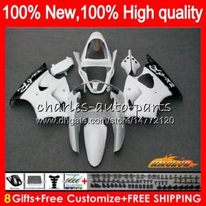 Body For KAWASAKI ZX-636 white glossy ZX 600 CC 6 R ZX636 ZX 636 600CC 37HC.50 ZX-6R ZX600 ZX6R 00 01 02 ZX 6R 2000 2001 2002 Fairings kit