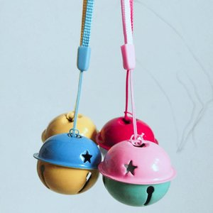 4cm Two-Color Big Bell Baby Stroller Crib Pendant Bell Lanyard Children DIY Gift Baby Rattle Toy Soothe Baby