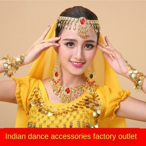 Indian dance scarf Bracelet accessories performance accessories belly dance necklace earrings ring bracelet headdress veil scarf