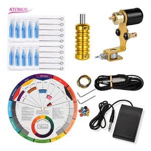 Shader Complete Tattoo Kit Rotary Machine Professional Kits Tools Completed Set Pen Complete Tattoo Machine Kit Rotary Gun Motor