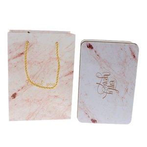 2pcs Набор Wedding Marble конфеты Подарочная коробка с сумка свадьбы пользу