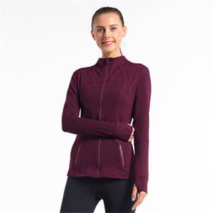 재킷 체육관 긴팔 티셔츠 피트니스 운동 빠른 드라이 탄성 지퍼가 달린 야외 스포츠 자켓을 실행 여성의 요가 슬림 원활한