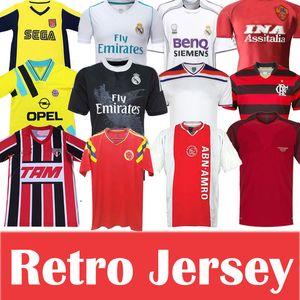 Real Madrid Ajax fútbol retro Jersey Bayern Munich Roma flamengo Portugal de fútbol clásico Jersey hogar lejos camisas de los hombres de alta calidad