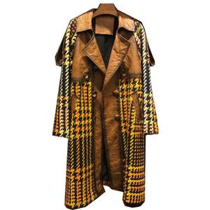 Giacca in vera pelle donna Cappotto Primavera Autunno Inverno Giacca coreano Vintage lungo Cappotto Donna Abrigo Mujer ZT1745