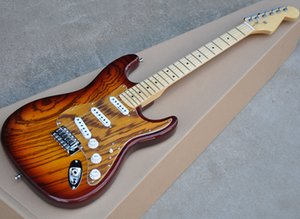 Tabacco Sunburst chitarra elettrica con Zebra Impiallacciatura di legno, 22 Tasti, Chrome Hardware, Acero Tastiera, può essere personalizzato