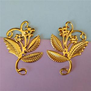 DIY Jewelry Accessories Double hook Bending Hook Chinese Antique Wedding Headwear Metal Flower Plating Material Wholesale