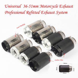 51/60 milímetros de fibra de carbono Austin Motorcycle Racing Tubo de Escape Para GSXR600 Z1000 ER6N K7 Moto GP de escape do sistema com assassino DB