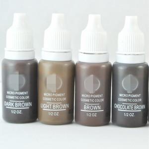 4 colori trucco permanente kit 15ml Micro Pigmenti Set BTCH inchiostro del tatuaggio cosmetico per il tatuaggio del sopracciglio del labbro Make Up colore misto
