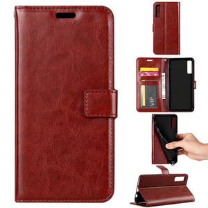 Retro PU Porte-monnaie en cuir cas de téléphone FlipStand pour Samsung J4 J6 J8 A6 A8 A7 plus 2018 S10 PLUS Lite S9 Note9