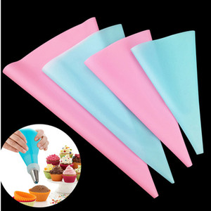 Silicone EVA Pastry Bag DIY Icing Piping Cream Pastry Bag Reusable Kitchen Bake Cake Tool Cake Decorating Tool 3 Sizes Wholesale DBC VT0457