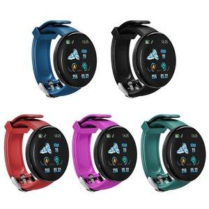 Pulsera inteligente D18 con la presión de medición de la presión arterial SmartBand ritmo cardíaco pulsera de color de la pantalla a prueba de agua inteligente el WristBand