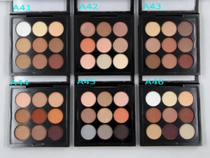 Maquiagem бордовый таймер девять палитра теней для век 9 цветов тени для век мини заказ 12 шт. Доставка по ePacked