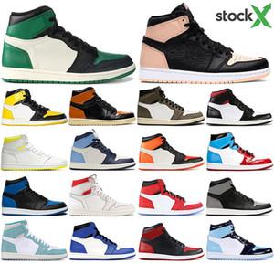 Nike AIR Jordan 1 1 scarpe alto Travis Scotts Basso Fearless Obsidian pallacanestro del Mens Spiderman UNC 1s top 3 Banned Toe Bred di sport degli uomini del progettista delle sca