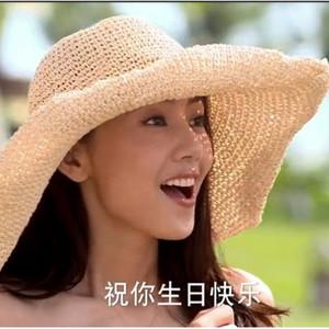 Floppy Raffia Chapeaux d'été pour les femmes Chapeau d'été Chapeau de paille Chapeau de plage D19011106