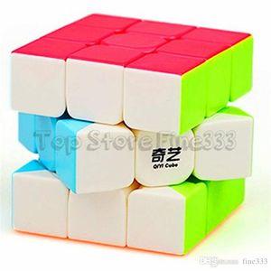 Qiyi Cubo Mágico D-FantiX Guerreiro W 3x3 Stickerless velocidade Puzzle Cube Guerreiro W 3x3x3 Stickerless Cubo Mágico