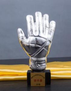 Futbol maçı altın eldiven kupa kupa kaplama kaleci madalya reçine el sanatları Toptan fabrika doğrudan satış