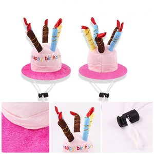 Dog Birthday Party Hat Cute Cake Pet Cap Puppy Helmet Plush Pug Cat Hats Dog Accessories for Small Dogs Chihuahua Teddy Katten