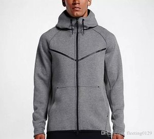 2017 new autumn winter Large size MEN'S HOODIE SPORTSWEAR TECH FLEECE WINDRUNNER fashion leisure sports jacket running fitness jacket c