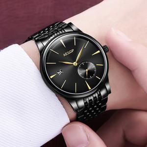 2020 роскошные часы Aesop мужские автоматические механические часы сапфировое стекло тонкое запястье наручные часы минималистский мужской часы мужчины Relogio Masculino