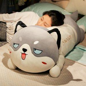 Cute Plush Stuffed Big Husky Dog Animal Plush Toys Cartoon Soft Plush Pillow Cushion Baby Kids Doll Birthday Gifts Home Decor
