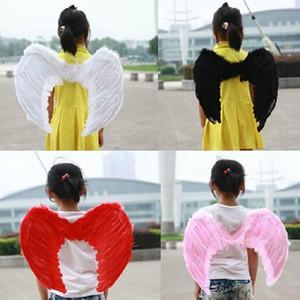 Kostüm Partisi Tüy Angel Wings 55X40CM Sahne Partiyi Dans Beyaz Tüy Melek Kanat 45 * 35cm Tüy Angel Wings Dört Renk Çocuklar