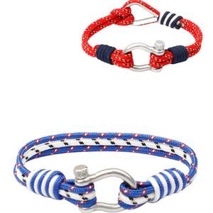 Weave corde Bracelets main Designer Umbrella corde Bracelets Femmes Hommes Luxe Silver Charm Bracelets Homme Bangles tricotés à la main